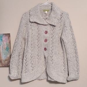 Sigrid Olsen Chunky Cardigan Sweater Size L